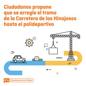 Aprobada moción para arreglar la carretera de Hinojosos hasta el Polideportivo Municipal de Quintanar de la Orden