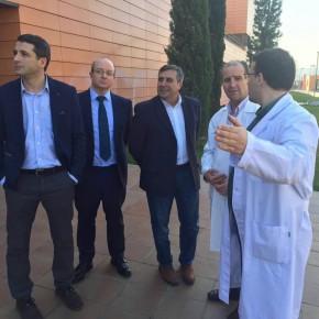 Visita del Diputado Provincial, Antonio López, y el Portavoz Regional, Esteban Paños, a la Residencia Asistida San José