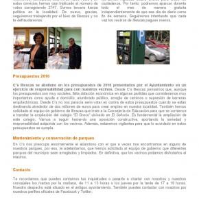 Boletín Informativo Enero 2016 de C's Illescas