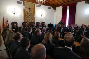 Antonio López y Esteban Paños asisten al acto de apertura del año judicial del TSJCM en la Audiencia Provincial de Toledo
