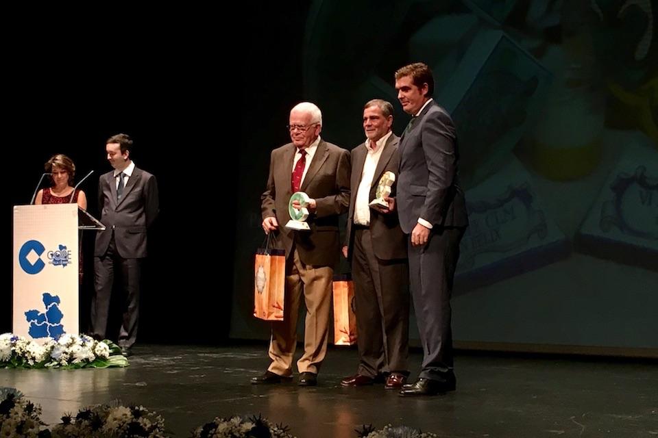 Isabel M. De Eugenio y Esteban Paños, en la VI gala de los Premios Populares COPE Castilla-La Mancha