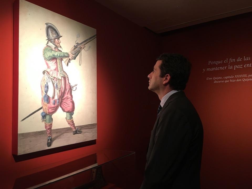 """Esteban Paños asiste a la inauguración de la exposición """"Cervantes, soldado y poeta"""""""