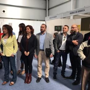 Luis Meroño, portavoz de Ciudadanos Cs Bargas, visita la XXIV edición de la Feria Regional del Mueble de Sonseca