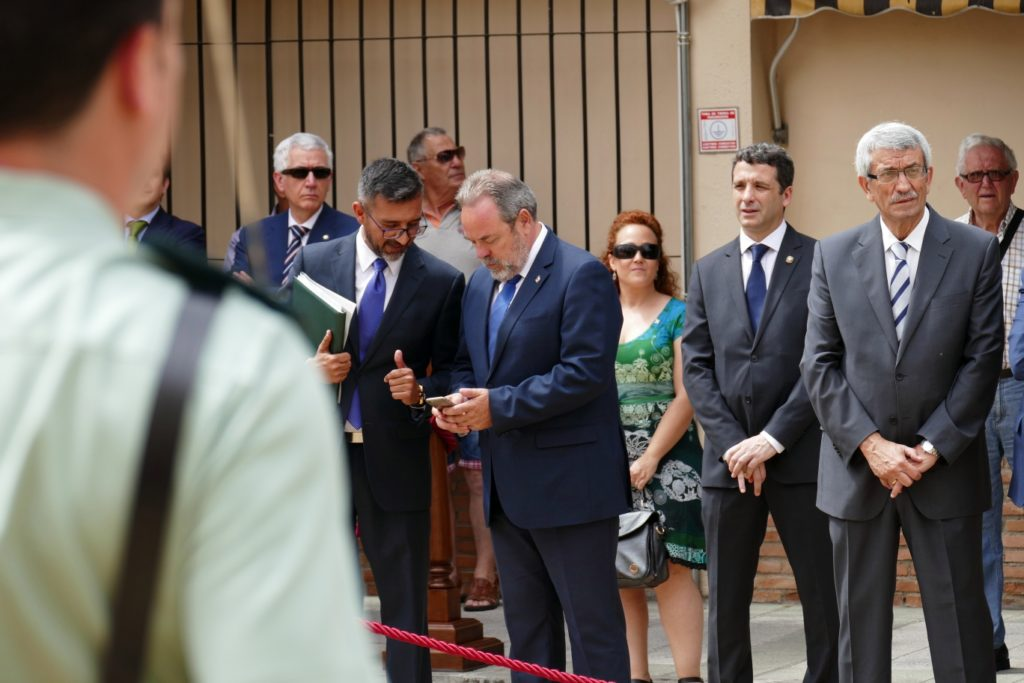 Esteban Paños asiste a la toma de posesión del General Manuel Llamas como nuevo jefe de la Guardia Civil de Castilla-La Mancha
