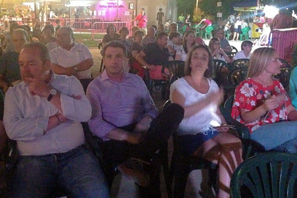 Esteban Paños, en la inauguración de las fiestas del barrio de San Antón