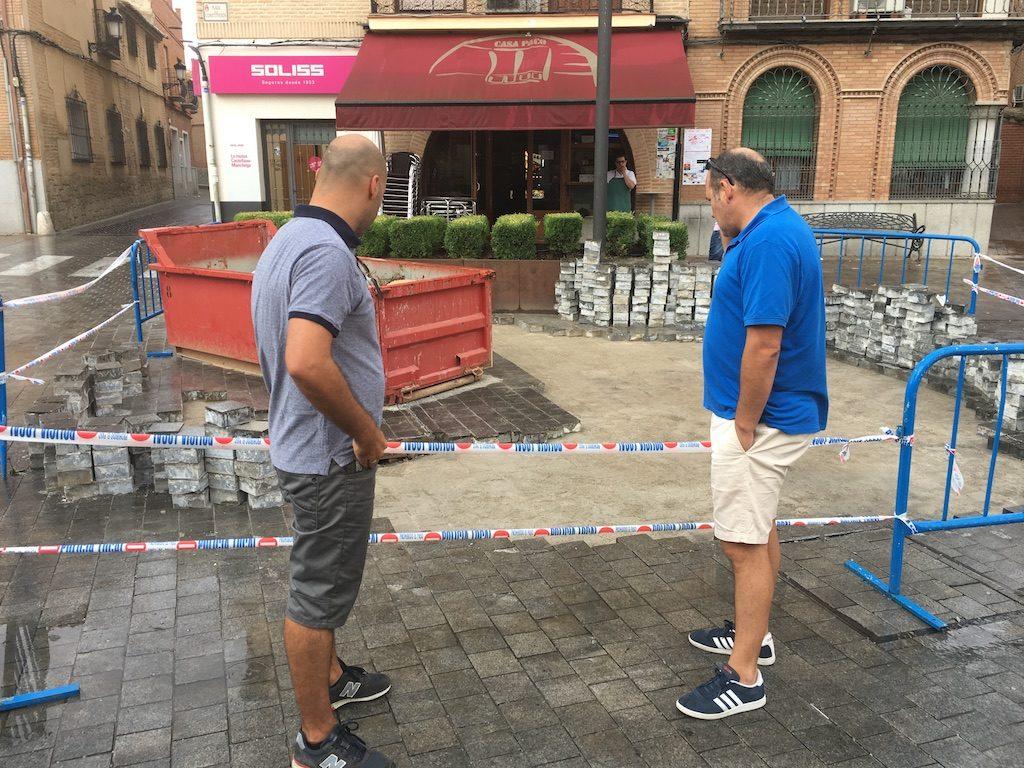 Ciudadanos Bargas reclama al Ayuntamiento una revisión del sistema de alcantarillado en el centro urbano para evitar escenas como las que se dieron con la tormenta del pasado lunes