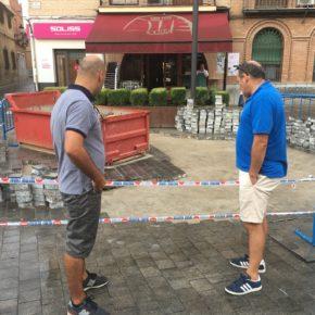 Ciudadanos (Cs) Bargas reclama al Ayuntamiento una revisión del sistema de alcantarillado en el centro urbano para evitar escenas como las que se dieron con la tormenta del pasado lunes