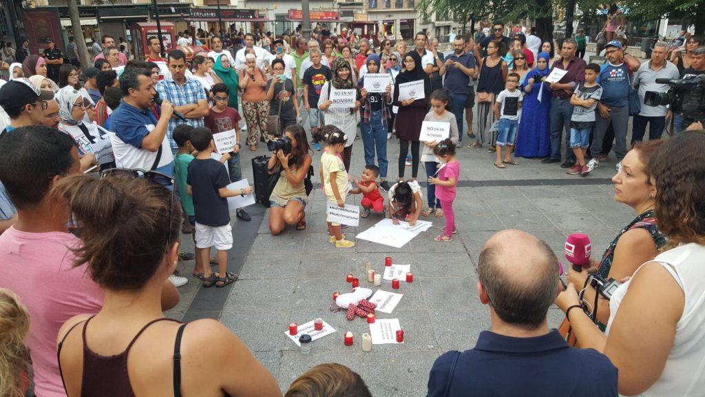 Isabel M. de Eugenio, en la concentración de condena a los atentados de Cataluña organizada en la plaza de Zocodover