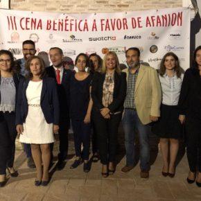 Isabel M. de Eugenio y Araceli de la Calle asisten a la III Gala benéfica de AFANION