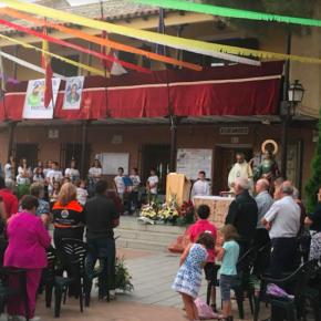 Marcos Talavera, concejal de Cs en el Ayuntamiento de Pantoja, participa en la ofrenda floral a Santa Bárbara